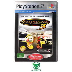 V8 Supercars 3 Playstation 2 Ps2 Very Good Australian Racing Rare Ebay