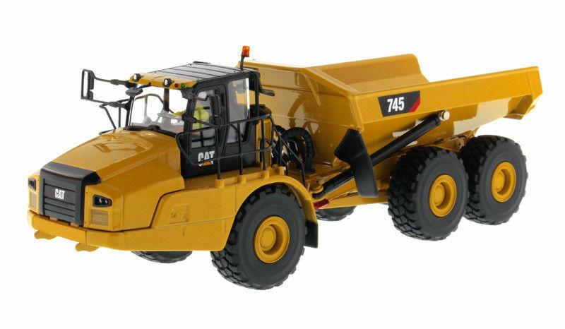 DM 85528 Diecast Construction Véhicule CAT 745 Articulated Hauler modèle de voiture jouet
