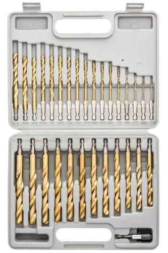 30 PieceQuick Change Tooluxe 10055L Titanium Coated Hex Shank Drill Bit Set