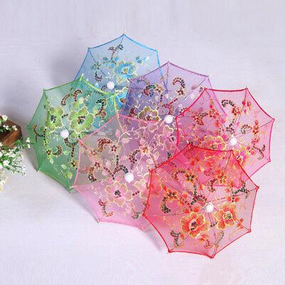 Dollhouse Miniature Toy Bedroom Furniture Garden Flower Umbrella Decorative
