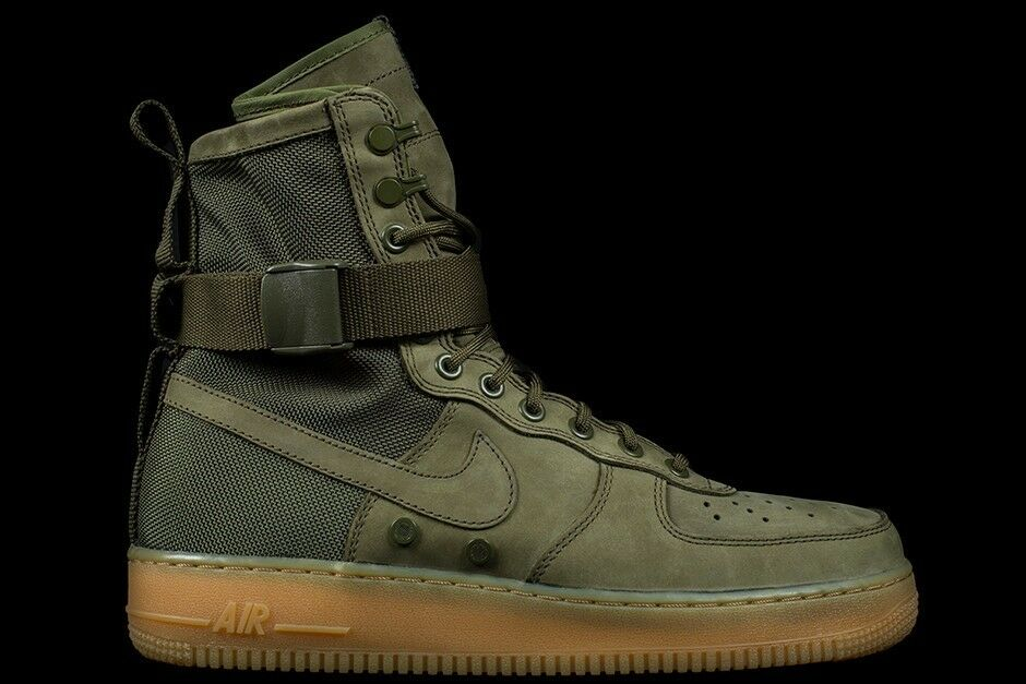 NIKE SF AIR FORCE 1 SPECIAL FIELD BOOT FADED OLIVE Sz 8.5 859202-339