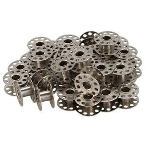 New-40pcs-Sewing-Machine-Bobbins-Stainless-For-Household-Singer-15-Class-F2E9-OB