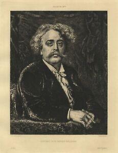 Fernand-Cormon-Portrait-de-Carrier-Belleuse-Eau-Forte-Damman-XIXe