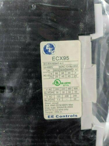 2 open 2 closed *NEW EE Controls ECX9522-A AC Contactor 95A 120V 4 Pole