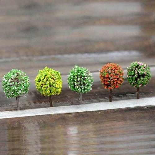 5Pcs Mini Tree Miniature Fairy Garden Micro Landscape DIY Bonsai Decor N1Q4