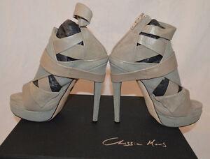 Chrissie-Morris-Heels-Size-36-5-Enola-Razza-Grigia-Camoscio