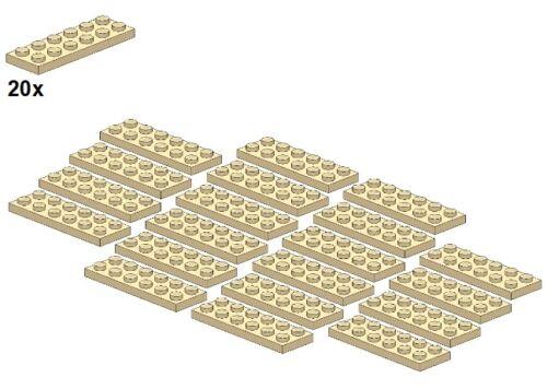 20stk - placa-beige plates-tan 2x6 Lego ® 3795-07
