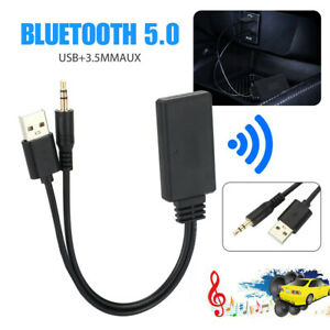 Bluetooth 5.0 Receiver Adapter USB+3.5mm Jack Stereo Audio Car  AUX Speaker