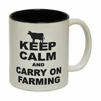 Keep Calm Carry On Farming Farmer Tractor Joke Humour 123t Funny Mug