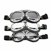 Hot Anti-UV Safety Motorcycle Scooter Pilot Goggles Helmet Glasses Motocross SY