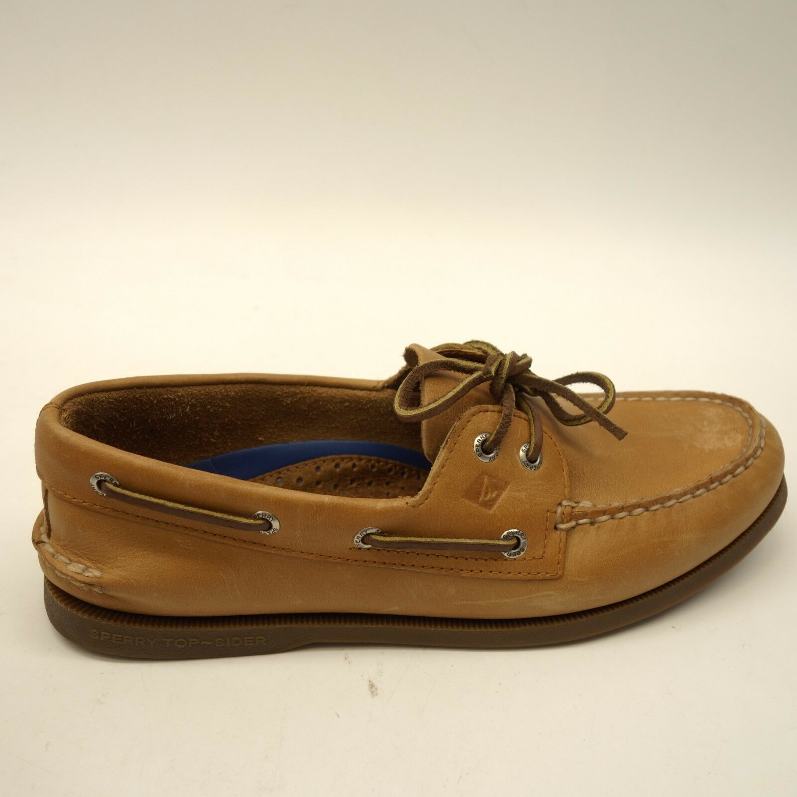 Sperry Mens Authentic Original Sahara 2 Eye Leather Boat shoes Sz US 9.5
