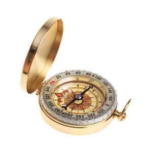 Compass Pocket Brass Watch Style Military Army Outdoor Camping Hiking Tool