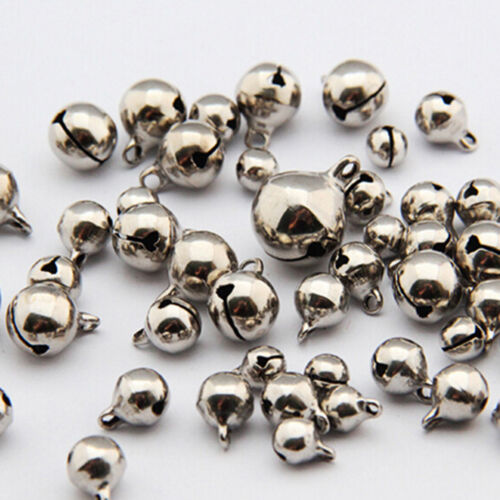 50pc Small Jingle Bells Copper Metal  Festival Jewelry Pendant Christmas DecorYJ