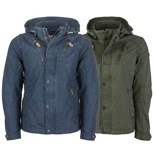 Details zu Khujo Herren Übergangsjacke Jacke Abnehmbare Kapuze Reißverschluss