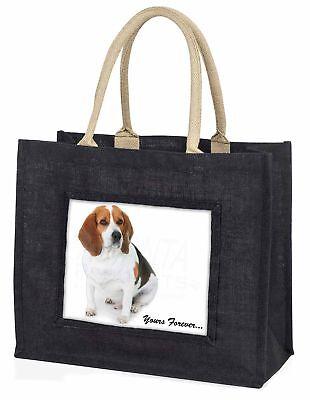 Beagle Hund  Yours Forever  große schwarze Einkaufstasche WEIHNACHTEN
