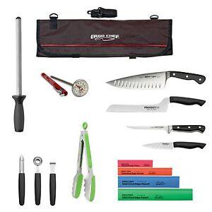 15pc professional chef knife kit culinary arts knife kit knife case roll bag ebay. Black Bedroom Furniture Sets. Home Design Ideas