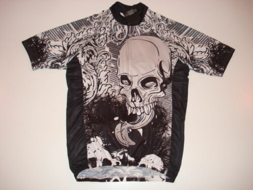 New SKULL DEAD TONGUE Cycling Road Bike Jersey size  L