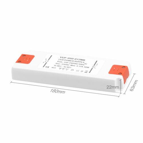 LED Transformator Trafo 0W-50W LED Treiber Slim Netzteil DC 12V SELV IP20