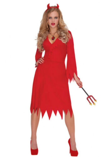 Womens Halloween Red Hot Devil Costume