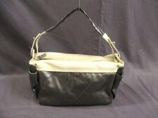 Authentic CHANEL Silver Ivory Paris Biarritz Coated Canvas Nylon Handbag