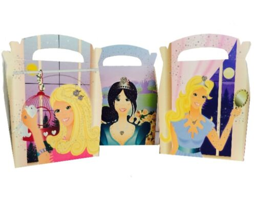 25 filles princesse boîtes repas ~ Fête D/'Anniversaire pique-nique box ~ transporter sac de nourriture