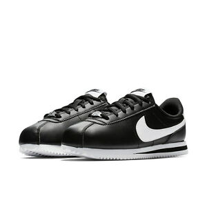 Black gs Origin Sl Bianco Cortez Scarpe Pelle Leather Nike Classic Basic Nero 7wtXq