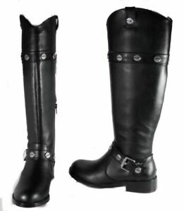INC-International-Concepts-Marty-Women-039-s-Black-Knee-High-Boots-Sz-6-5