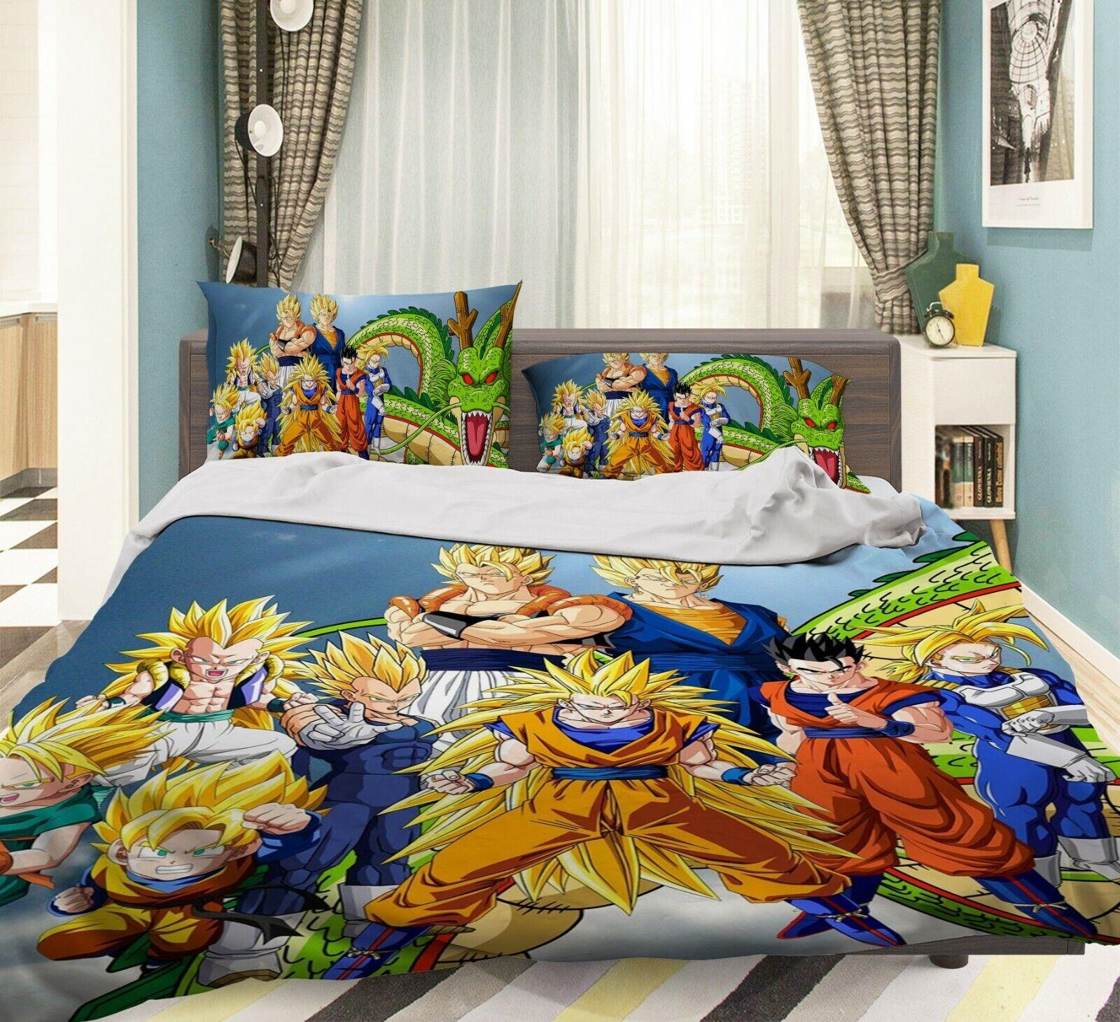 3D Fighting Boys G57 Japan Anime bed Pillowcases Duvet Cover Quilt Cover Acmy