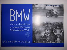 BMW 1934 PROSPEKT R2 R11 R16 750ccm Geländesport MOTORRad Oldtimer SAMMLER