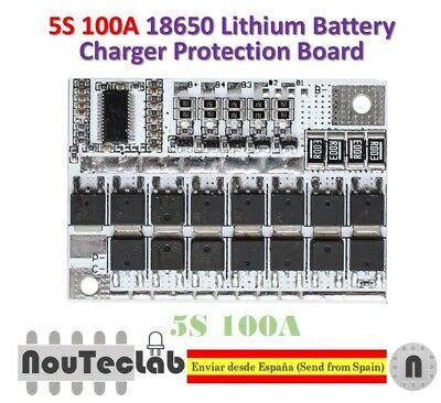 5S 100A Lithium Battery BMS Li-ion LMO Ternary Protection Circuit Board 21V 18V