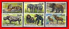 Cook Islands 1992 Animals  MNH TIGER RHINO ELEPHANTS PRIMATES APES (NT-A)