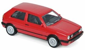 VW GOLF GTi G60 diecast model road car red body 1990 1:43rd scale Norev 840062