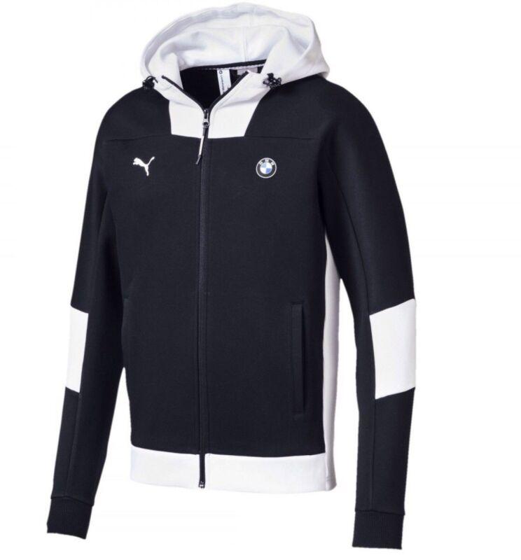 Mens Puma Bmw Motorsport Hooded Sweat Jacket Gray Or Blue Size Xl Medium M