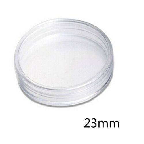 10pcs 23mm Applied Clear Cases Coin Storage Capsules Holder Round Plastic JKCA