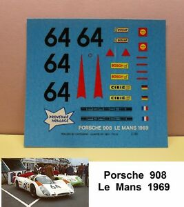 PORSCHE 908//2 LONG TAIL 1969 5 VERSIONI DECALS 1//43