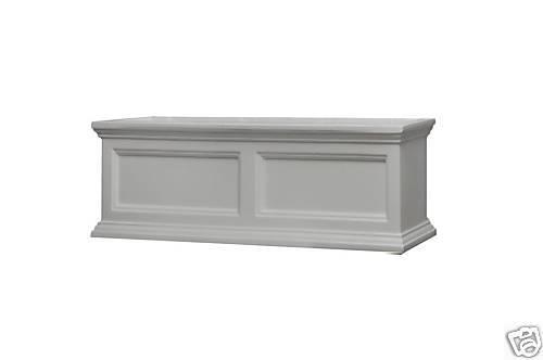 "Mayne Fairfield Window Box White 48/"""