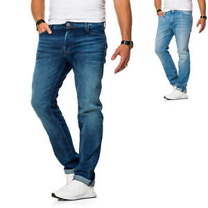 Jack-amp-Jones-calcetines-para-vaqueros-straight-leg-Denim-look-usado-Jeans-Hose-casual-Classic