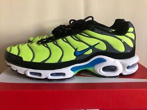 90c7003cac51c Nike TN Air Max Plus Volt Scream Green Black 852630-700 Mens Running ...