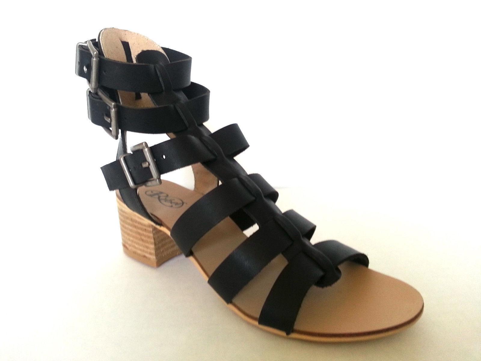 New  Modern Rebel Polish Multi-Strap Leder Sandale
