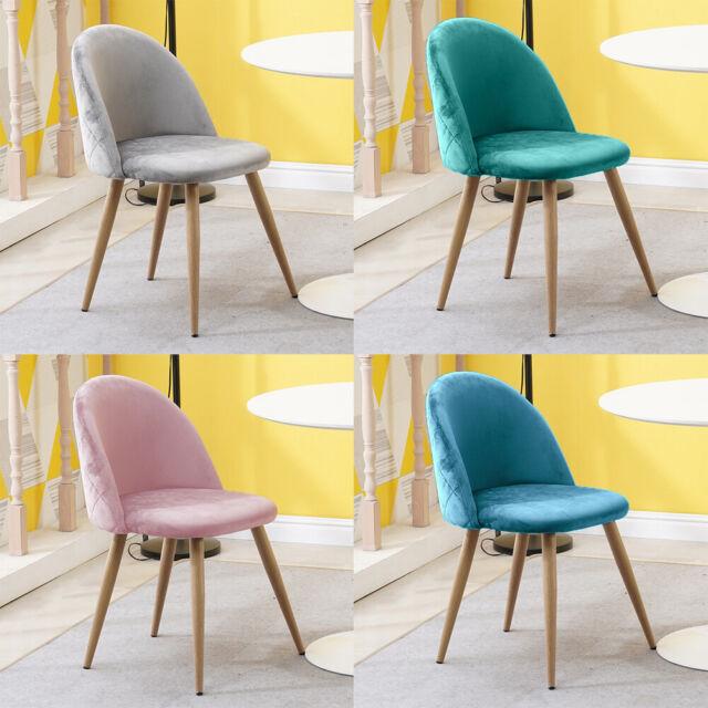 2er Set Esszimmerstühle Küchenstuhl Stühle Polsterstuhl Samt Stoff Sessel