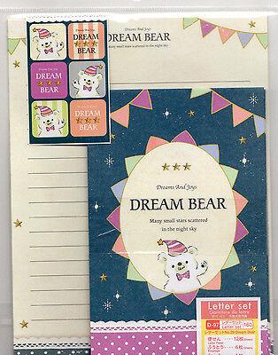 Kawaii Japanese mini letter set  writing set cute writing paper DREAM BEAR cute