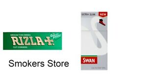 600-Rizla-Green-Papers-amp-600-Swan-Ultra-Slim-Filters-Tips-Free-Del