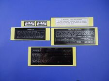 Kawasaki Z1 Caution Stickers / Z900 Warning info Helmet lock Service Decals Z1a