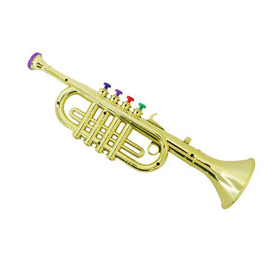 34cm Plastic Trumpet Horn Wind Instrument for Kids Educational Toys Gifts