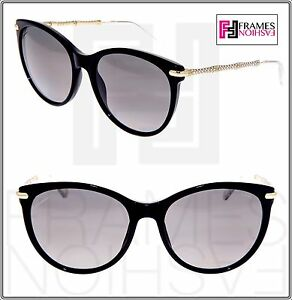 556f6a773d4 Image is loading GUCCI-3771-Black-Gold-Crystal-Bamboo-Oversized-Sunglasses-