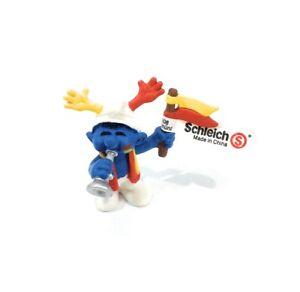 Smurfs-Soccer-Team-Fan-20530-Rare-Vintage-Figure-Toy-PVC-Figurine-Peyo