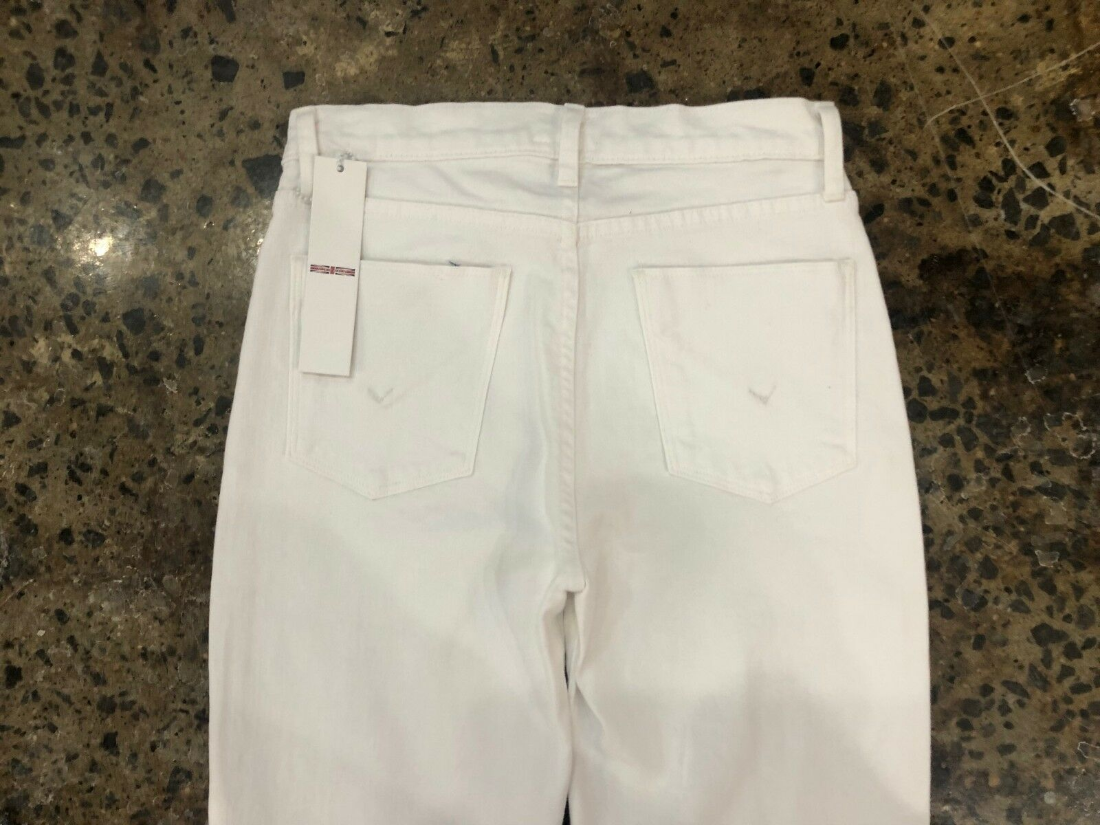 NWT HUDSON WOMEN ZOEEY HIGH RISE STRAIGHT CROP JEANS WHITE  SIZE 25
