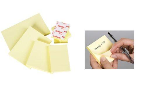 Kores Haftnotizen NOTES blanko gelb 50 x 75 mm 100 Blatt Notizblock Zettel