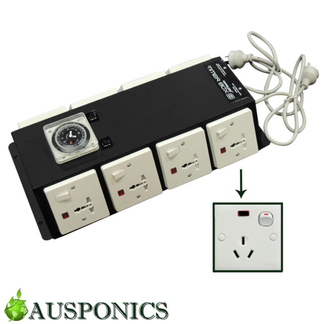 TIMER BOX 8 - Power Relay Industrial Timer With 8 Outputs For Hydroponics
