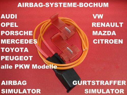 Airbag Gurtstraffer Simulator Opel Corsa B C D Astra F G H           Widerstand